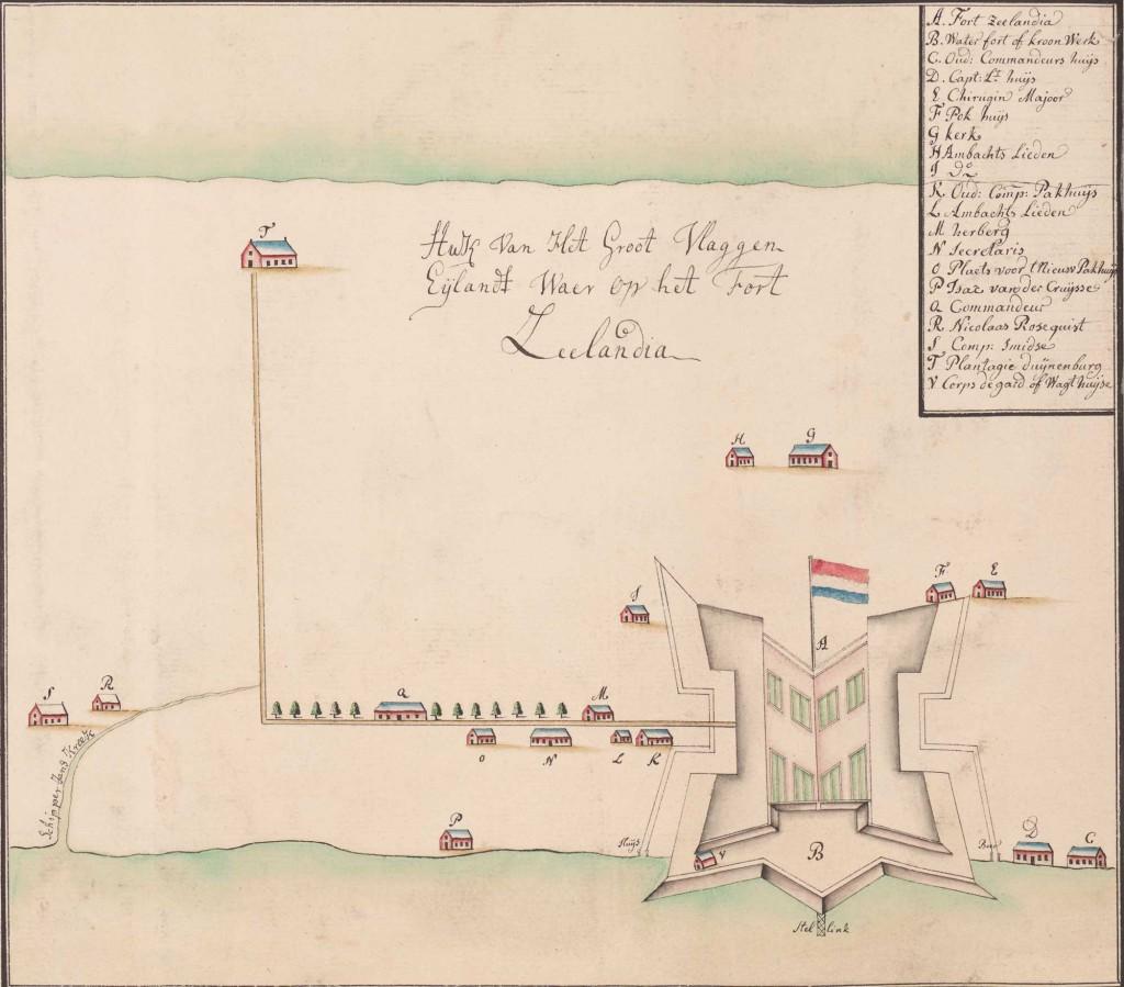 Essequebo-cartouche-Vlaggeneiland-fort-ZI-I-1624