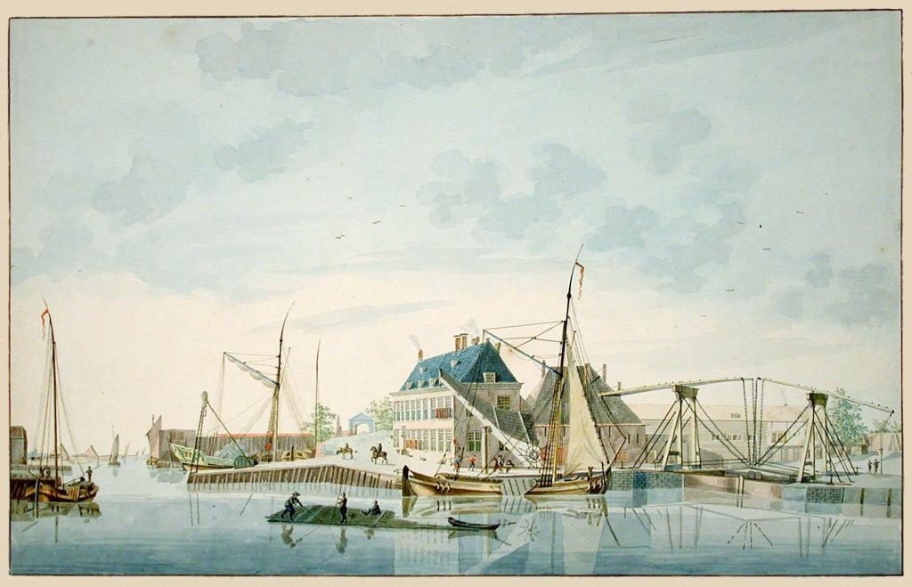 Haven-Middelburg-met-dokbrug-Zeeuws-Archief-ZI-II-0290