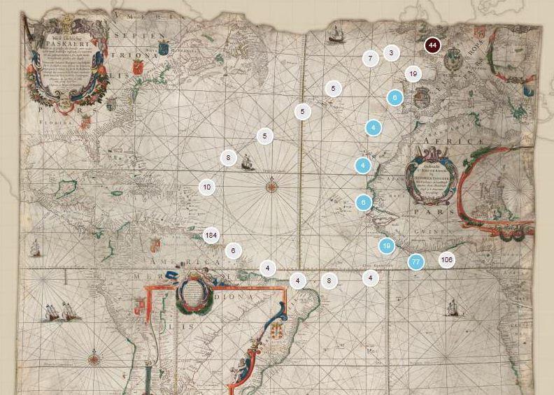 Knipsel totaalbeeld kaart met route