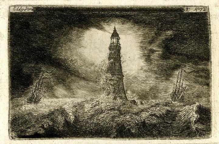 Meeuwensteen vuurtoren storm British Museum