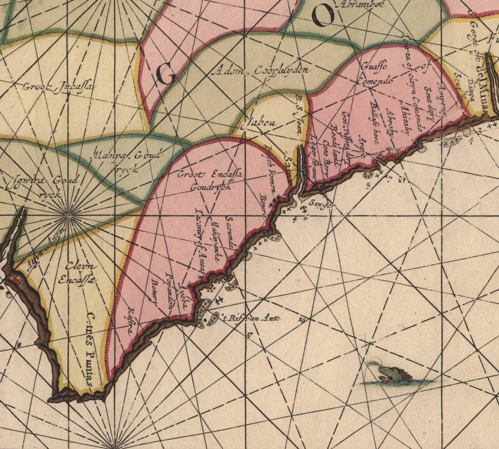 detail-uit-Zeekaart-kust-Guinea,-ZA-Beeld&Geluid-inv-592