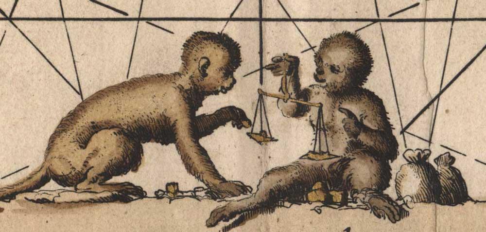 goudschaaltje-apen-detail-uit-Zeekaart-kust-Guinea,-ZA-Beeld&Geluid-inv-592